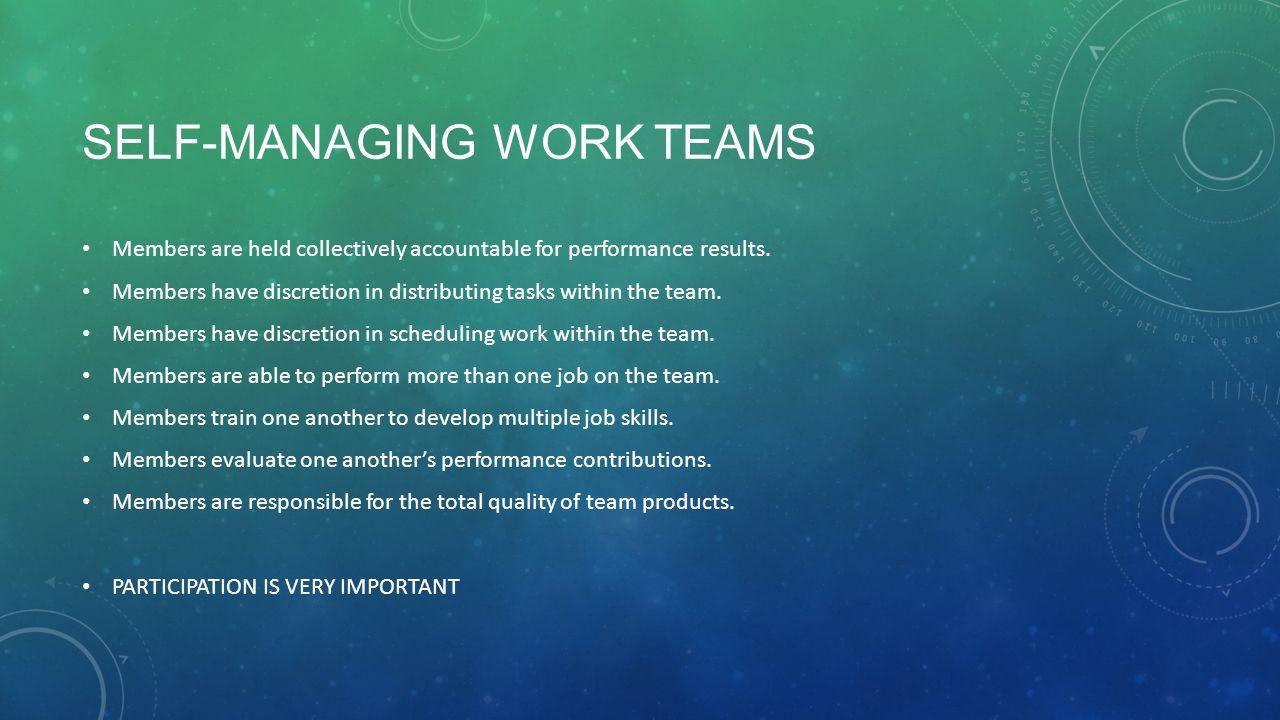 Self-Managing Work Teams