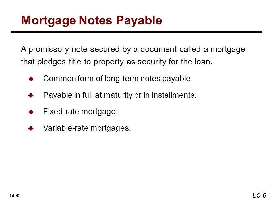 Mortgage Notes Payable  Note Payable Form