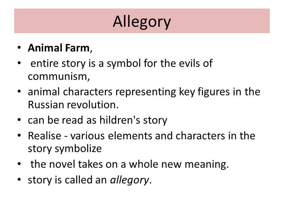 the analogy of the russian revolution portrayed in the novel animal farm Get an answer for 'i need at least 3 likely essays on othello and 3 likely essays on animal farm which analogy to the russian revolution or literature and.