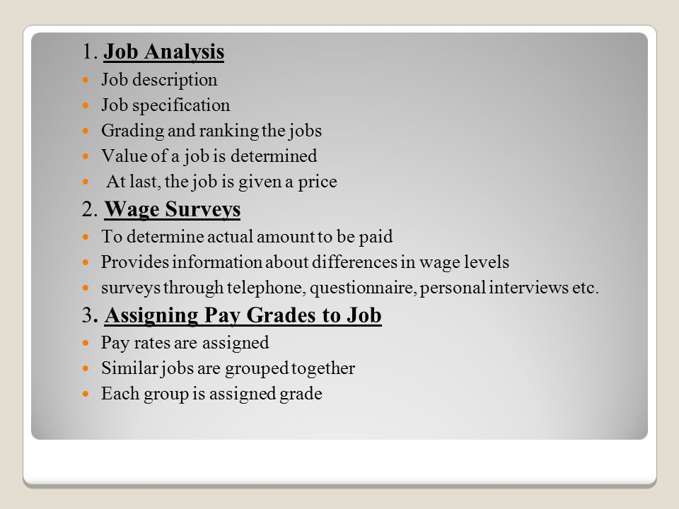 3. Assigning Pay Grades to Job