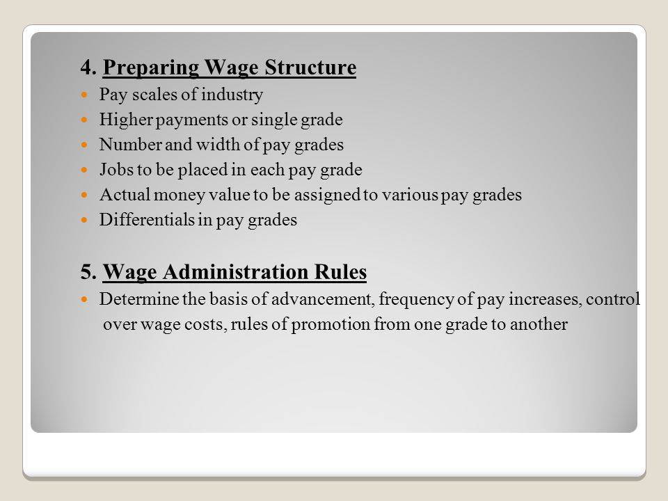4. Preparing Wage Structure