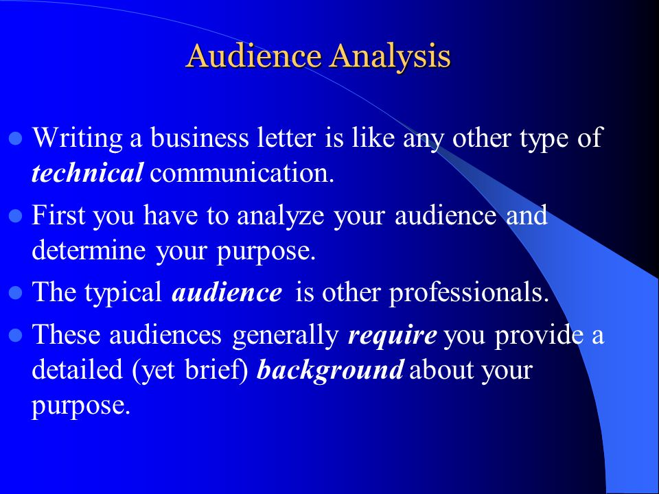 how to write a letter to a business