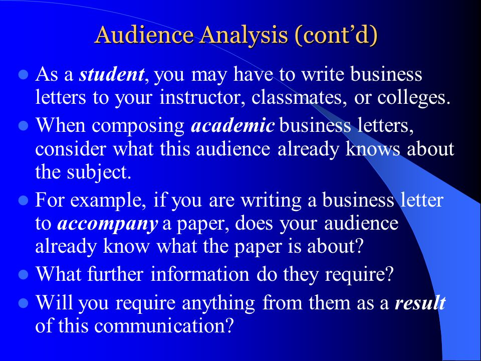 audience essay Audience analysis paper does the thought of putting together a quarterly sales presentation to stakeholders give you nightmares well, a sales presentation doesn't have to be that way.