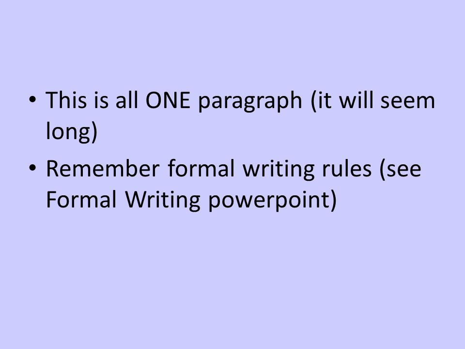 Essay writing point proof explanation