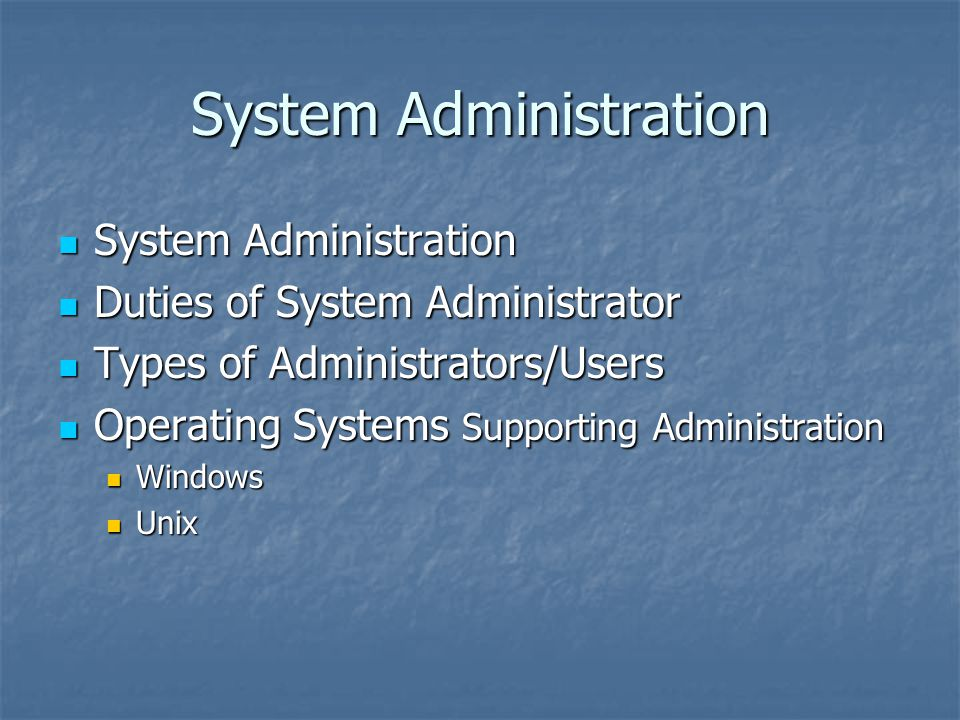 an introduction to network administration and computer systems administration Introduction to network administration  network administrators and computer systems administrators design, install and support a company's lan, wan, network.