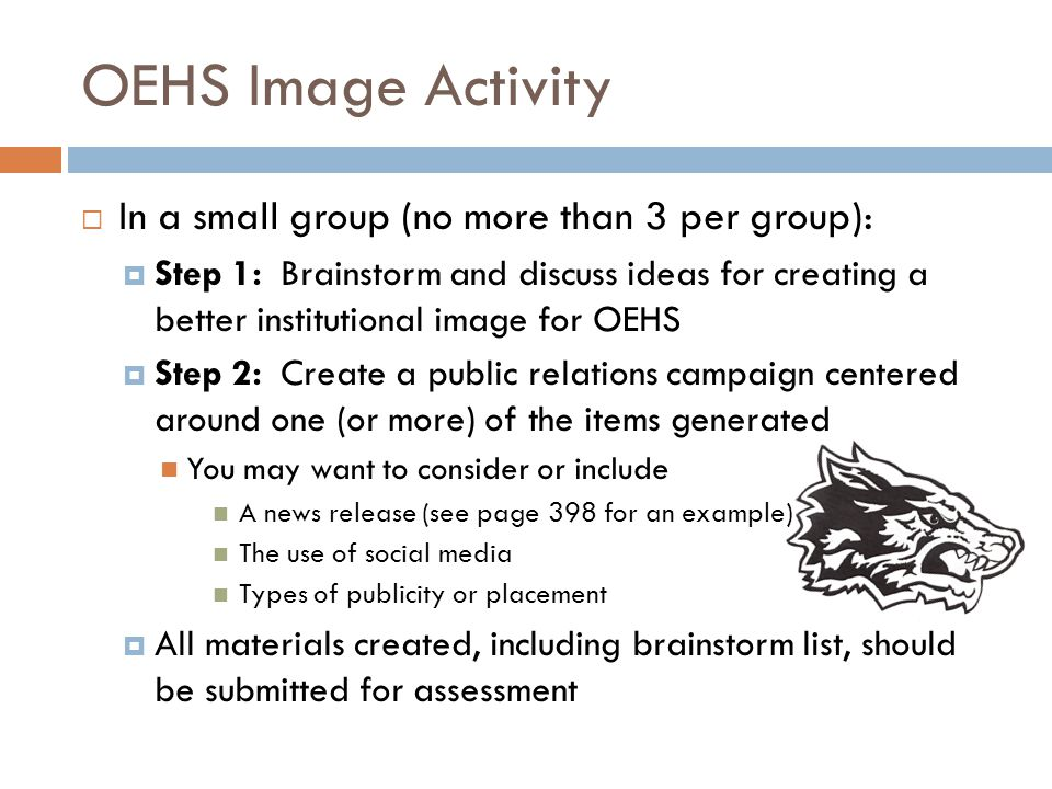 OEHS Image Activity In a small group (no more than 3 per group):
