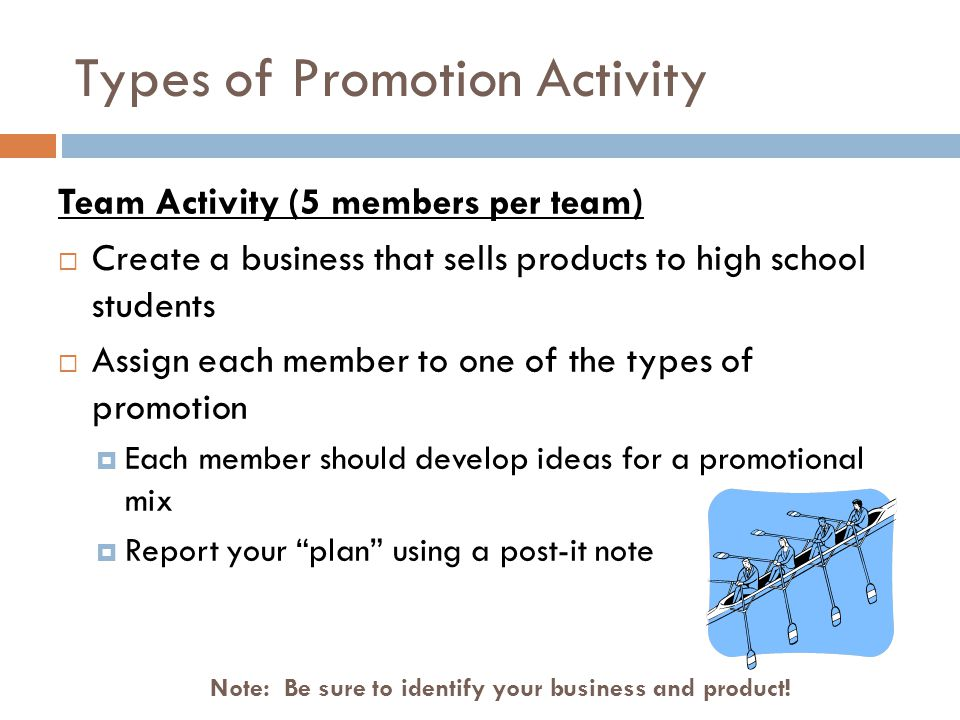 Types of Promotion Activity