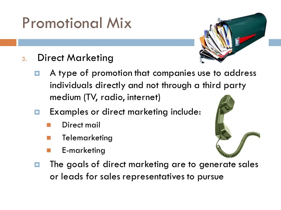 Promotional Mix Direct Marketing