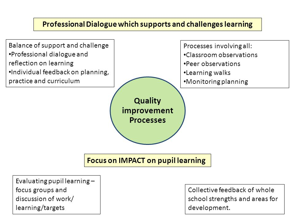 Professional Dialogue which supports and challenges learning