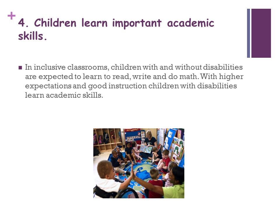 4. Children learn important academic skills.