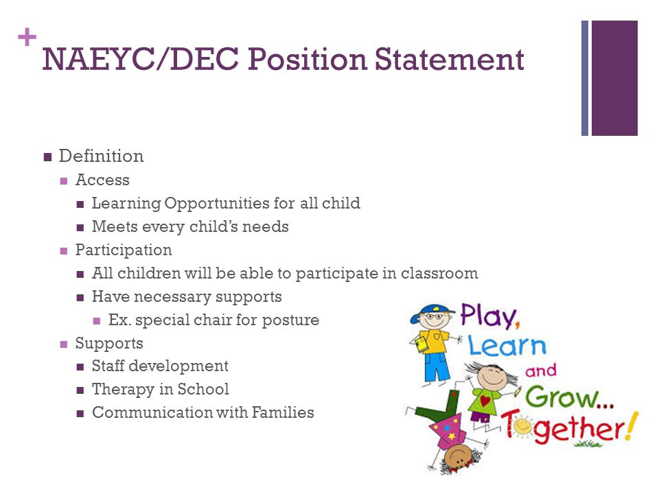 NAEYC/DEC Position Statement