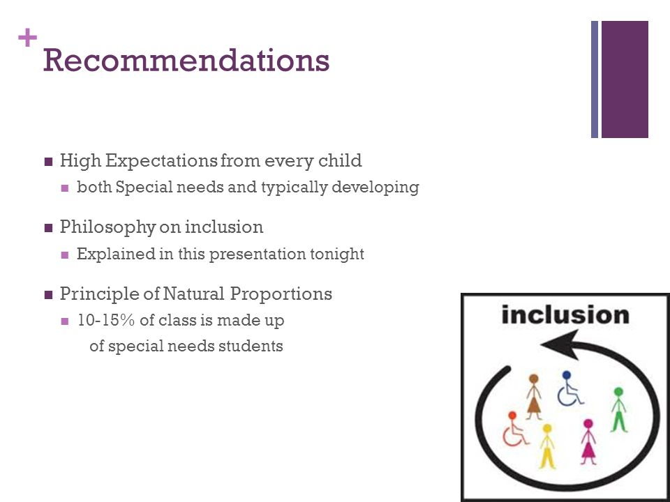 Recommendations High Expectations from every child