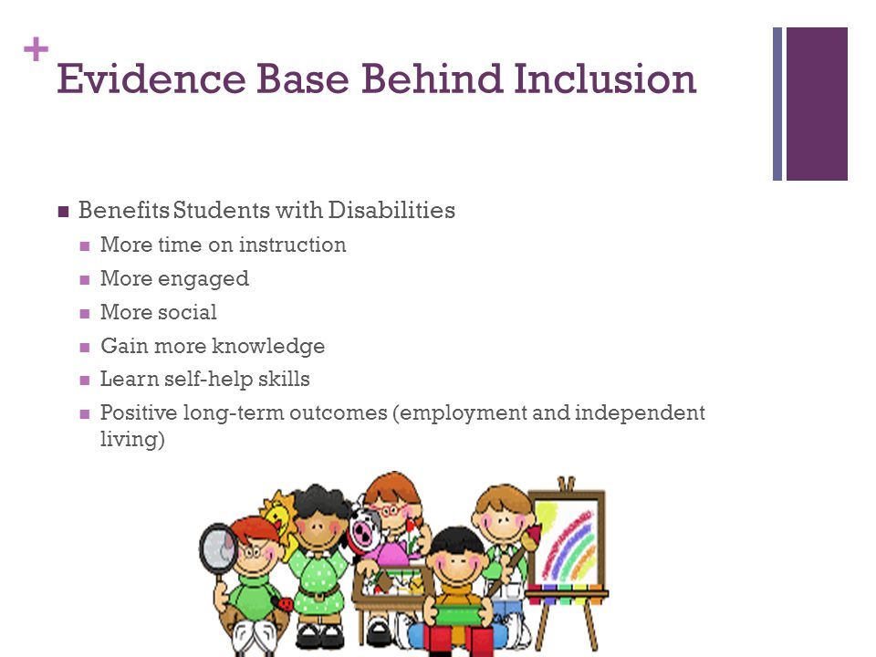 Evidence Base Behind Inclusion