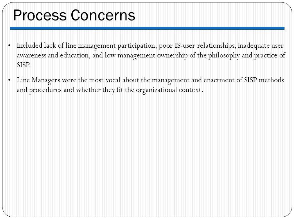 Process Concerns
