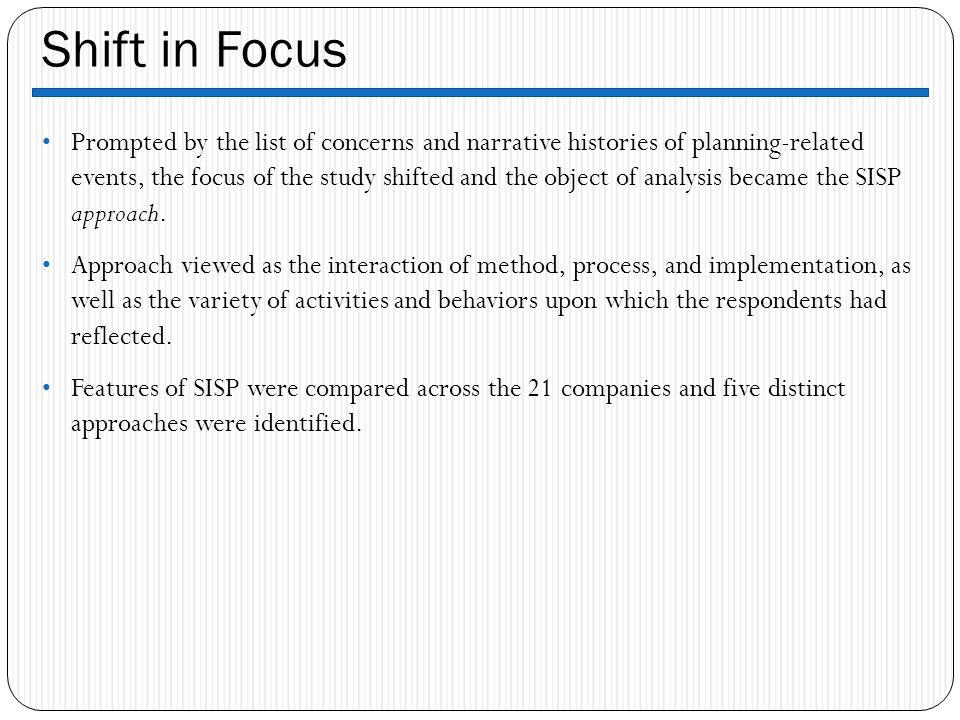 Shift in Focus