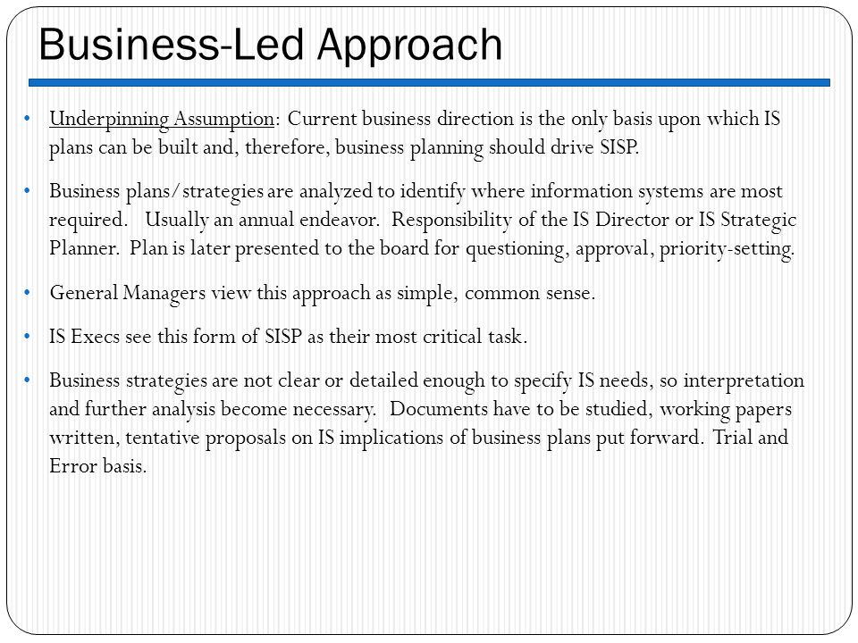 Business-Led Approach
