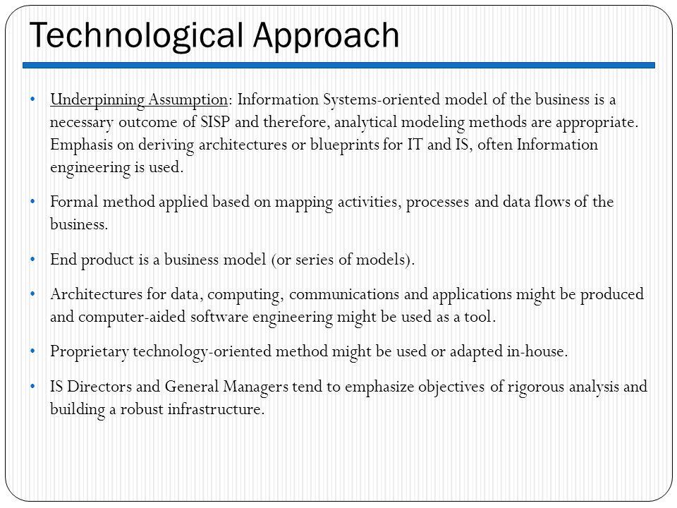 Technological Approach