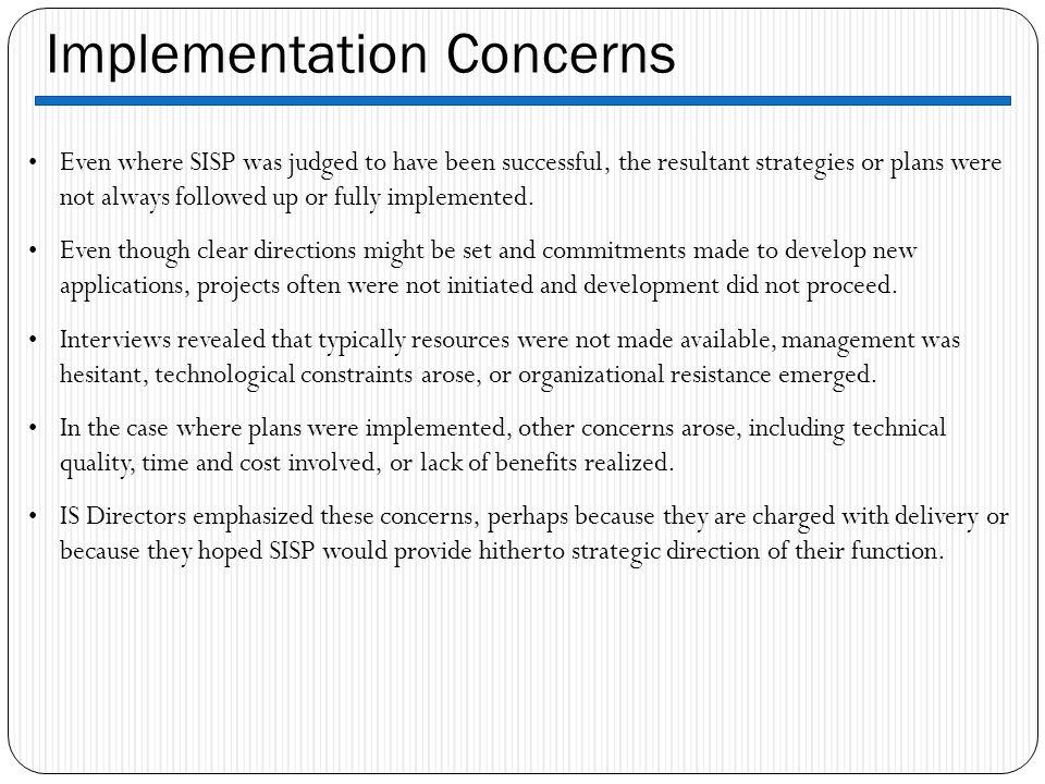 Implementation Concerns