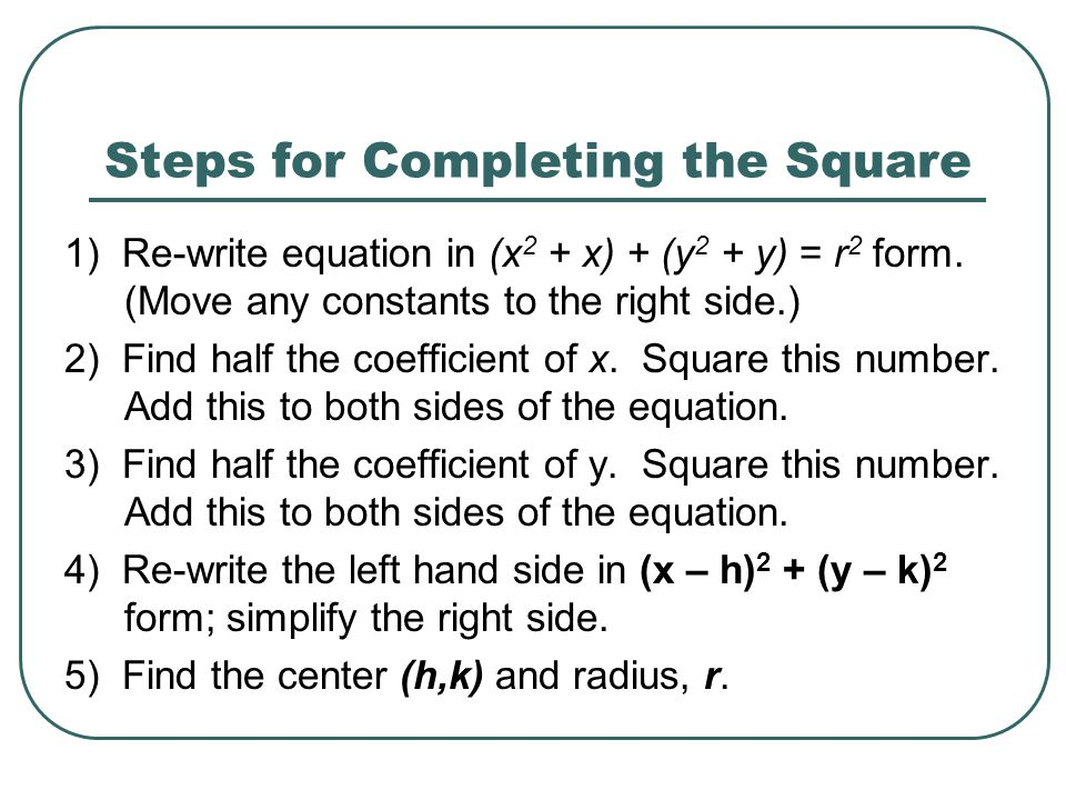 how to find the minimum point by completing the square