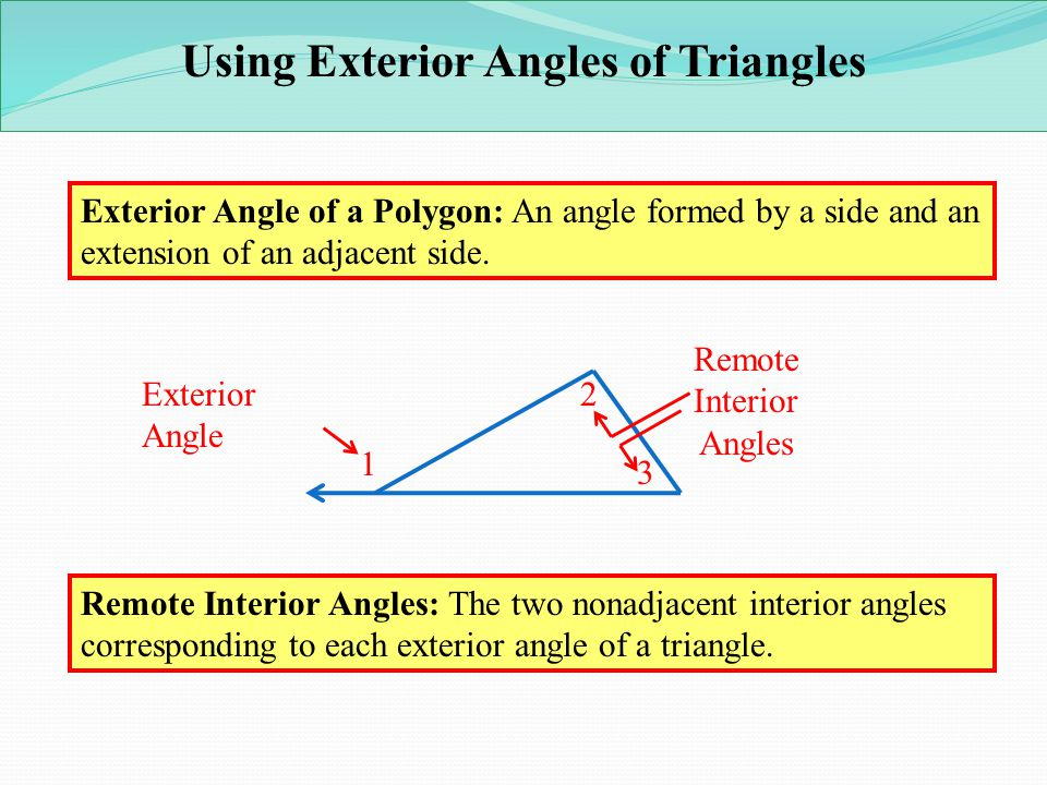 Lesson 3 3 4 parallel lines and the triangle angle sum for Exterior angles of a polygon