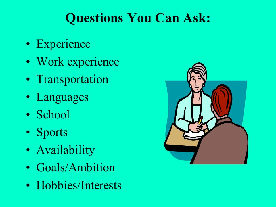 questions to ask on work experience