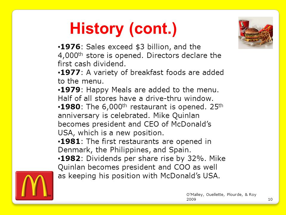 mcdonalds case study strategic management