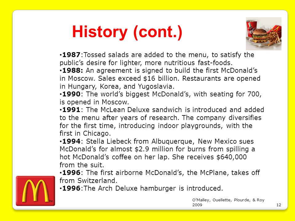 Mcdonald s corporation in the new millennium case study