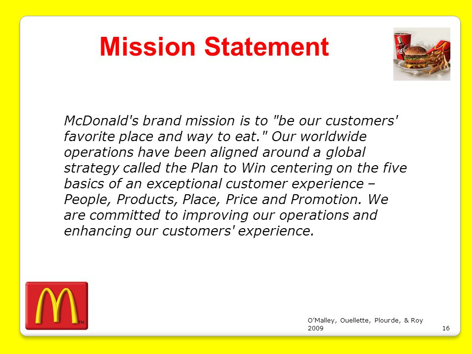 mcdonald s strategy evaluation Essays - largest database of quality sample essays and research papers on mcdonald s strategy evaluation.