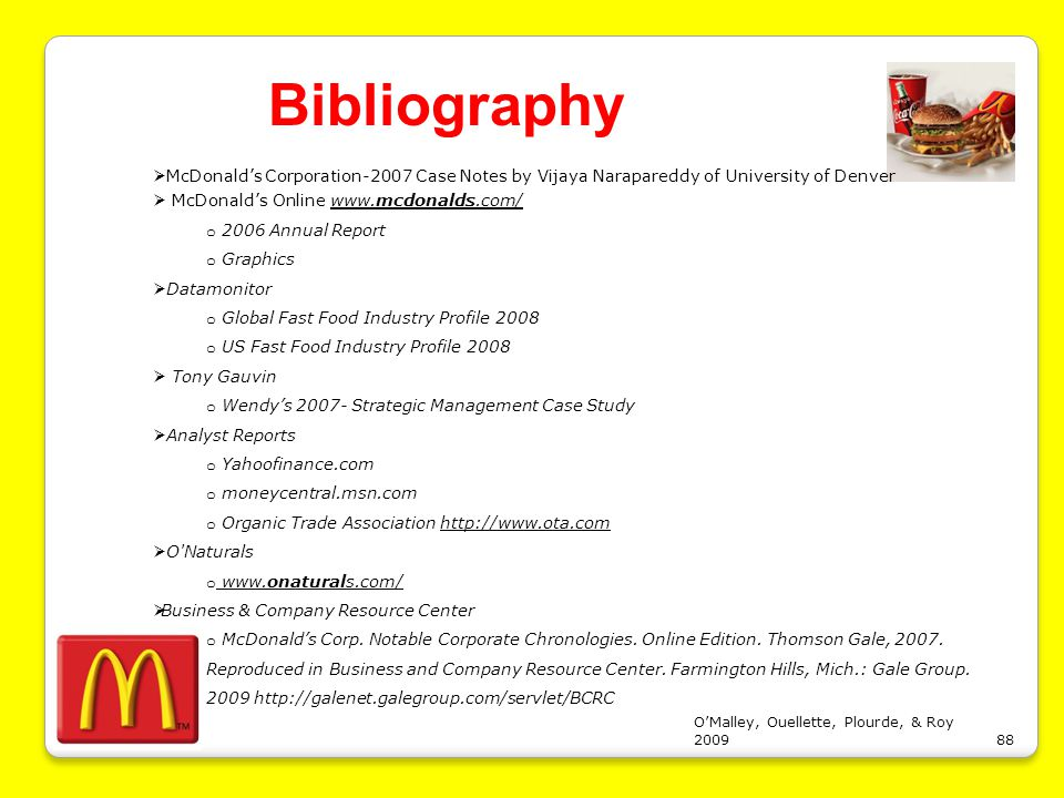 mcdonalds case analysis time context Anyone can learn for free on openlearn, but signing-up will give you access to your personal learning profile and record of achievements that you earn while you study.
