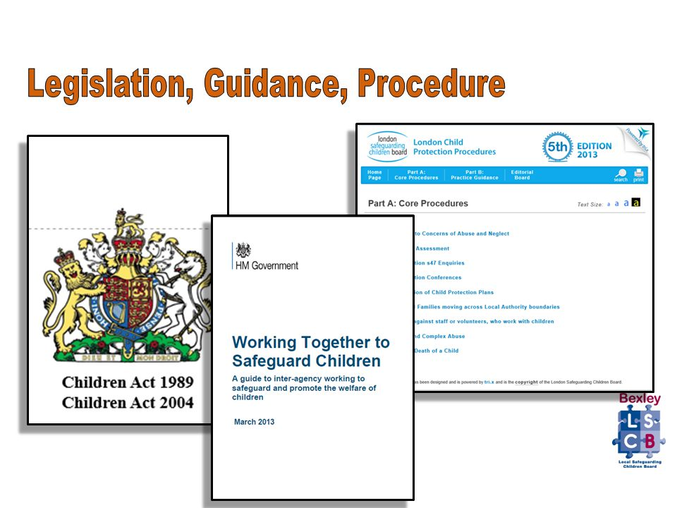 11 safeguarding legislation and government guidance Act alliance child safeguarding guidance  11 1 outline of a child safeguarding policy  //wwwgovuk/government/publications/safeguarding-children-and-young.