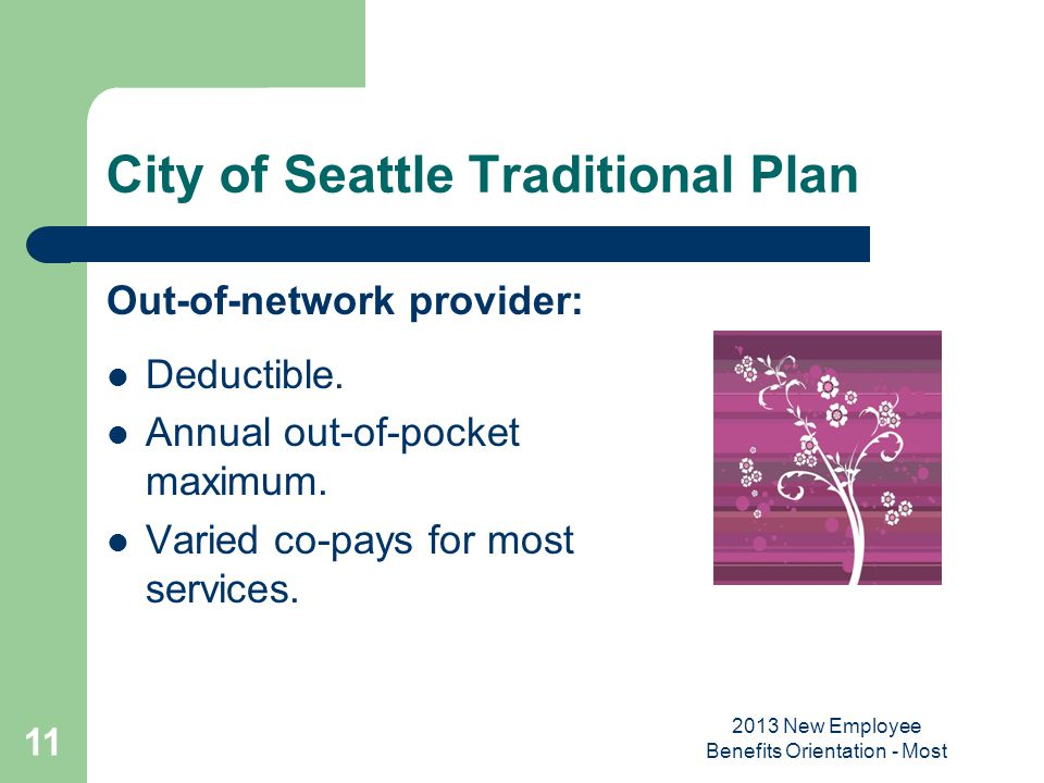 City of Seattle Traditional Plan