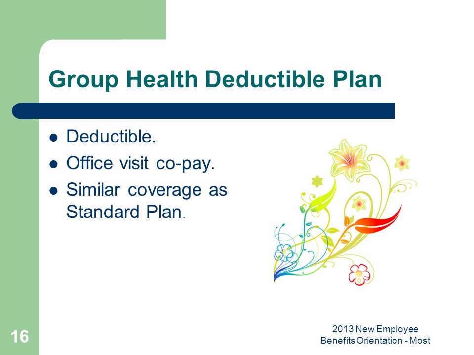 Group Health Deductible Plan