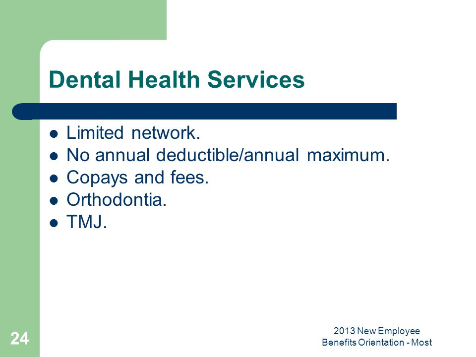 Dental Health Services
