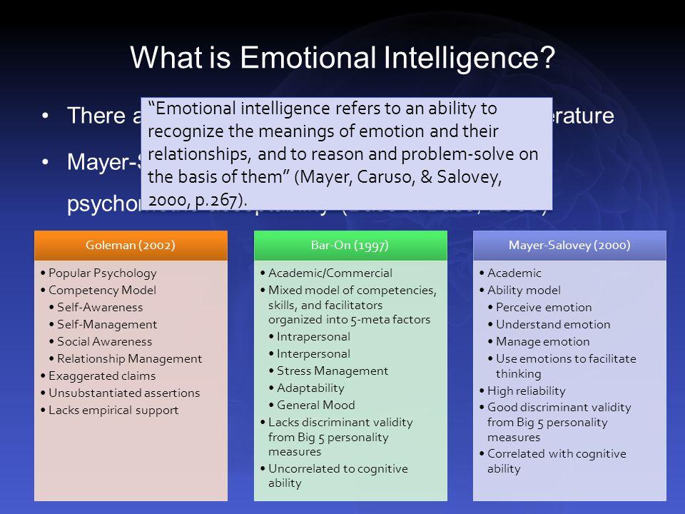 emotional intelligence 4 essay Emotional intelligence - part 4 - intelligence essay example what is emotional intelligence emotions inform us about things.