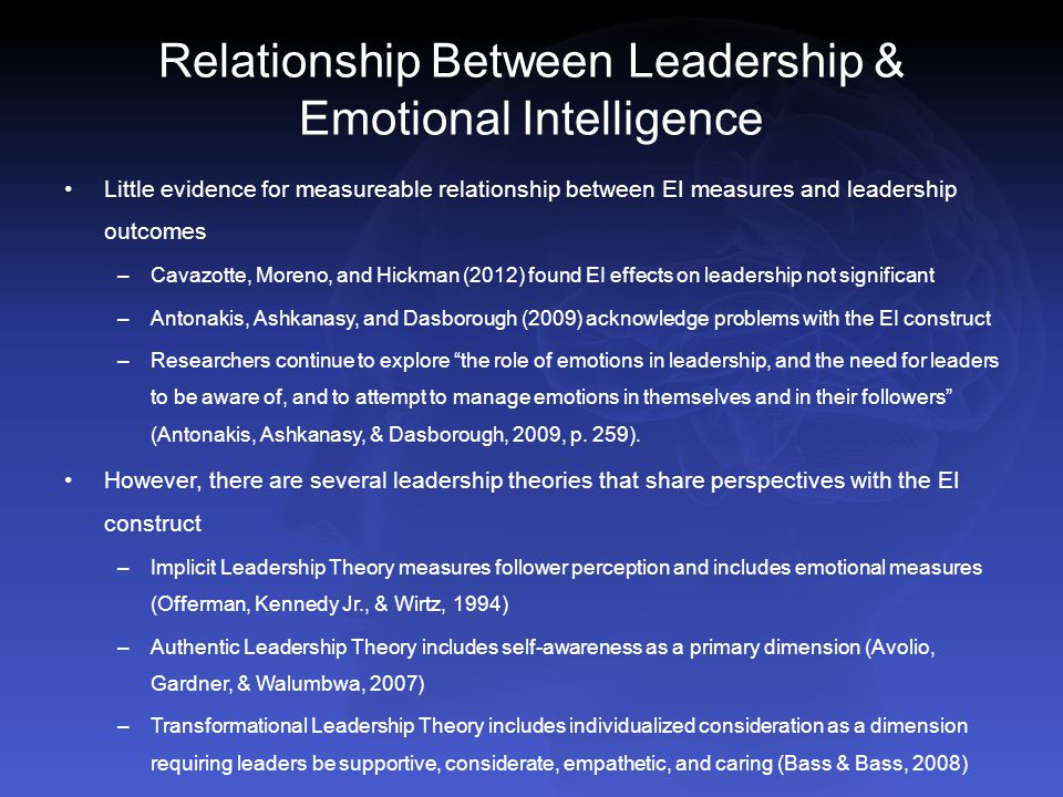 the relationship of emotional competencies to transformational leadership