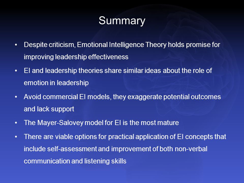Emotional Intelligence (Goleman)