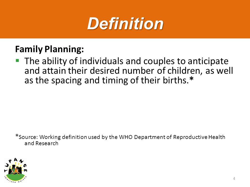 Whole site orientation package for family planning ppt for Family planning com