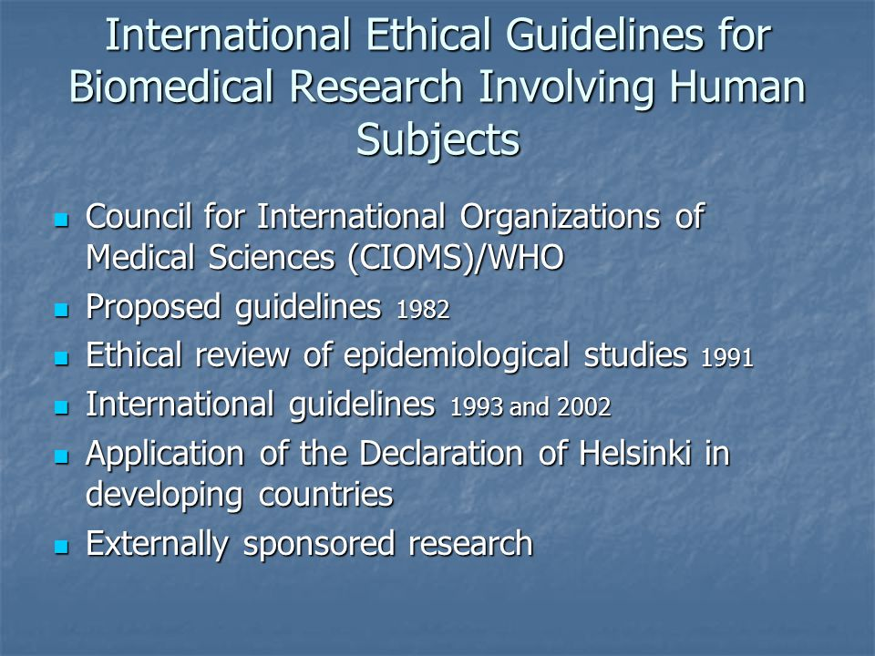 five ethical principles research human participants All research involving human participants is strictly governed by the  this is  governed by important ethical principles whether consent is valid.
