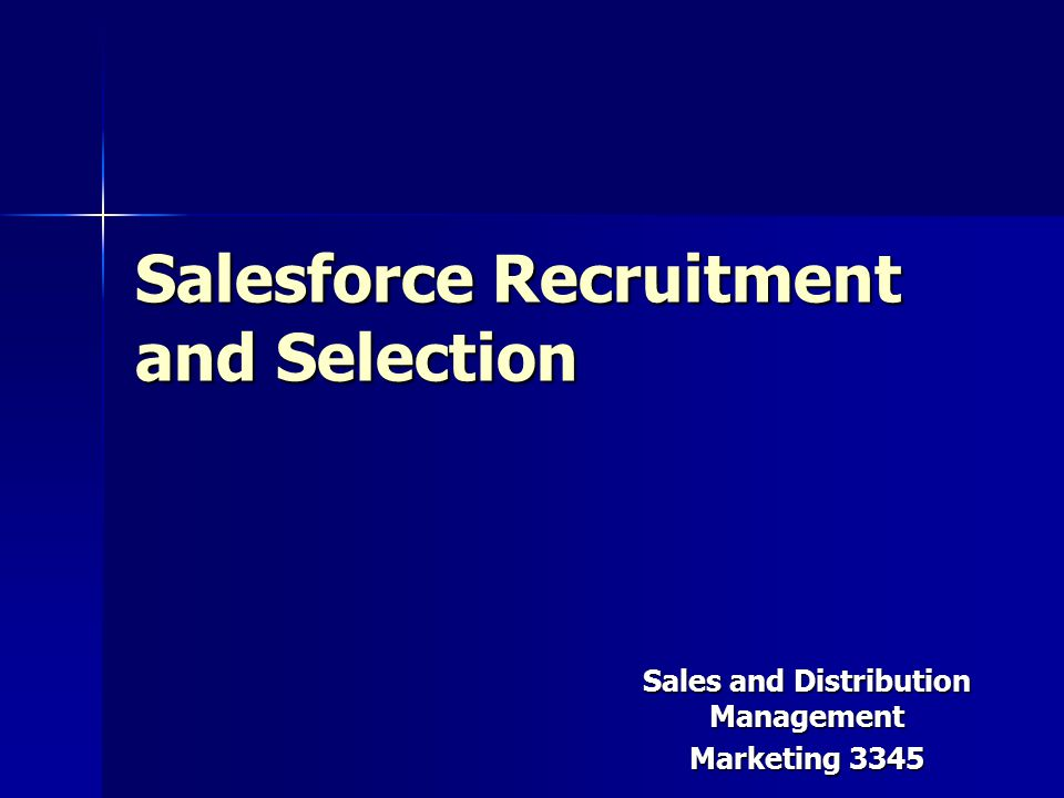 recruitment and selection os a sales Chapter 1 introduction the following study will be based upon the recruitment and selection strategy adopted by mcdonald's mcdonald's.