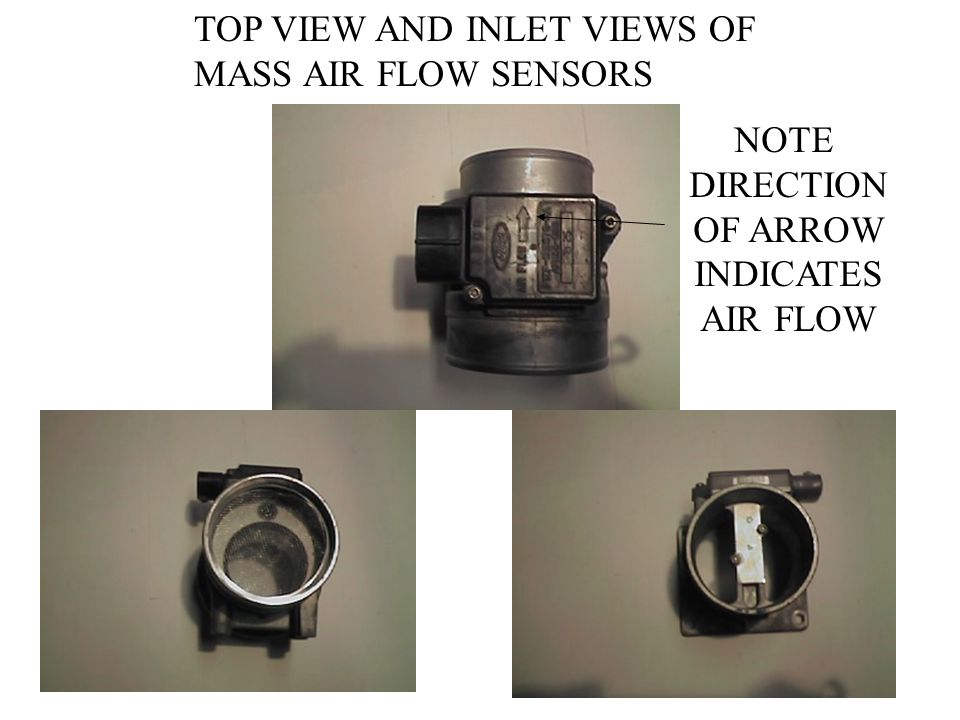 TOP VIEW AND INLET VIEWS OF