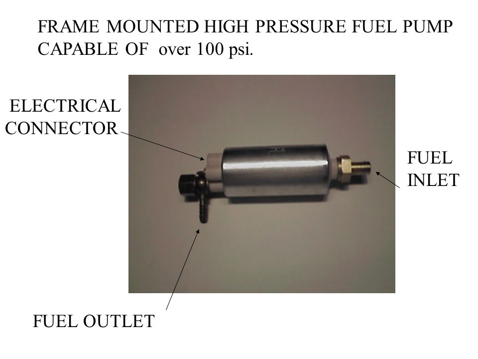 FRAME MOUNTED HIGH PRESSURE FUEL PUMP