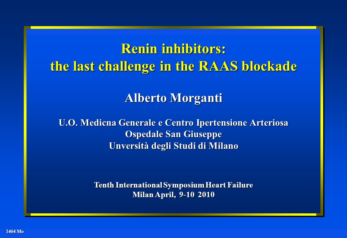 Renin inhibitors: the last challenge in the RAAS blockade