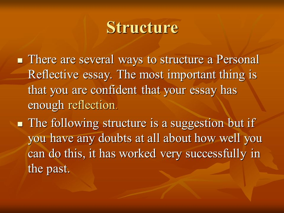 higher english personal essay structure Download free guide (1) download free guide (2) english biz has separate guides for each of the types of writing you'll meet on your course but this particular guide is probably the most important of them all it will show you how to construct an effective, well-structured argument-based essay.
