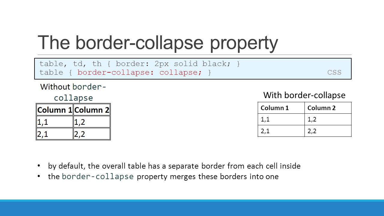 how to make border lines in css for a table