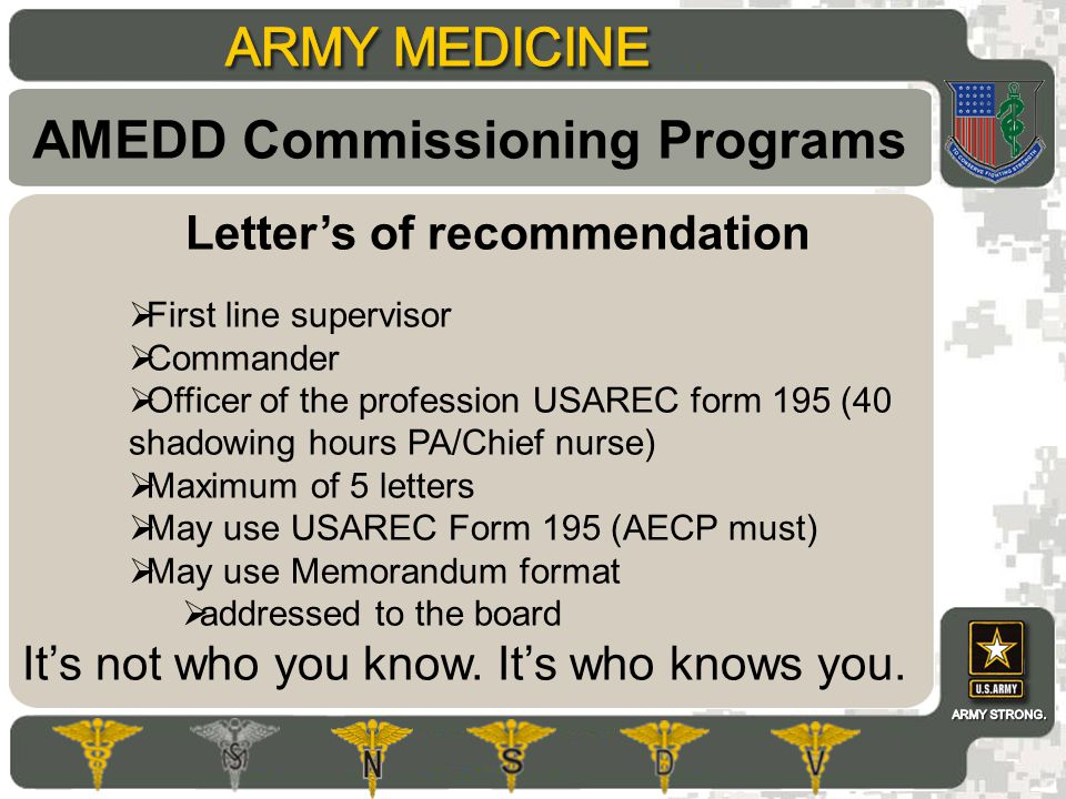 Amedd Commissioning Programs - Ppt Download