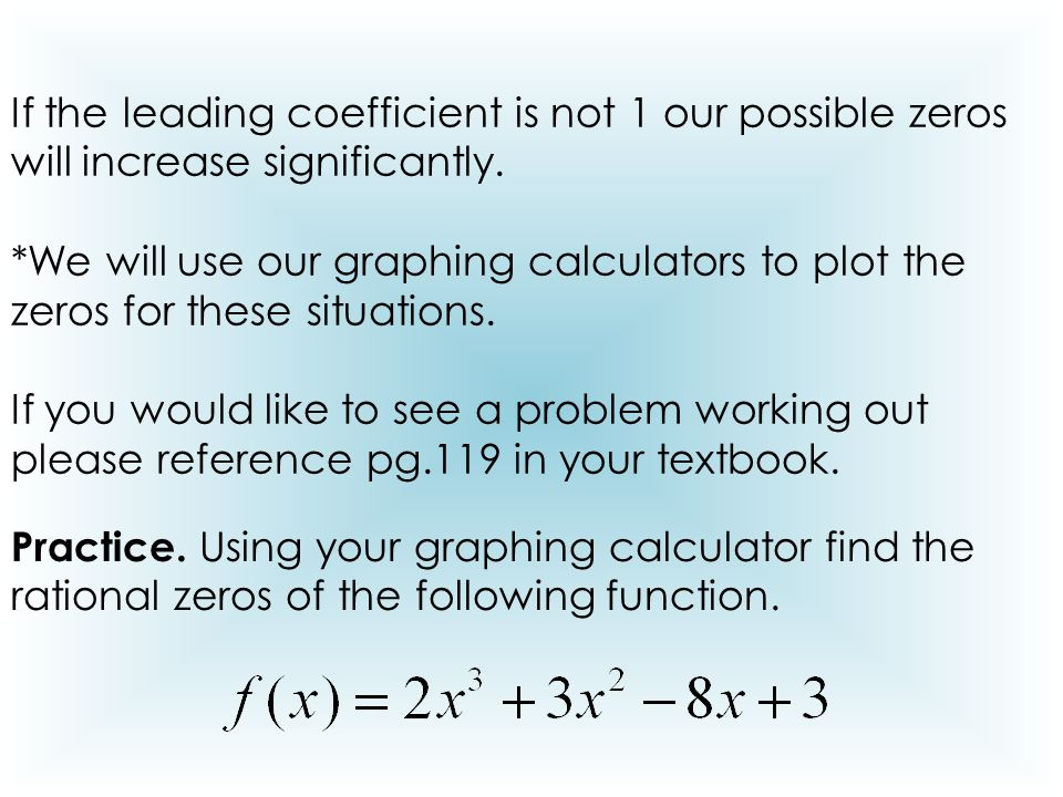 how to find rational zeros calculator