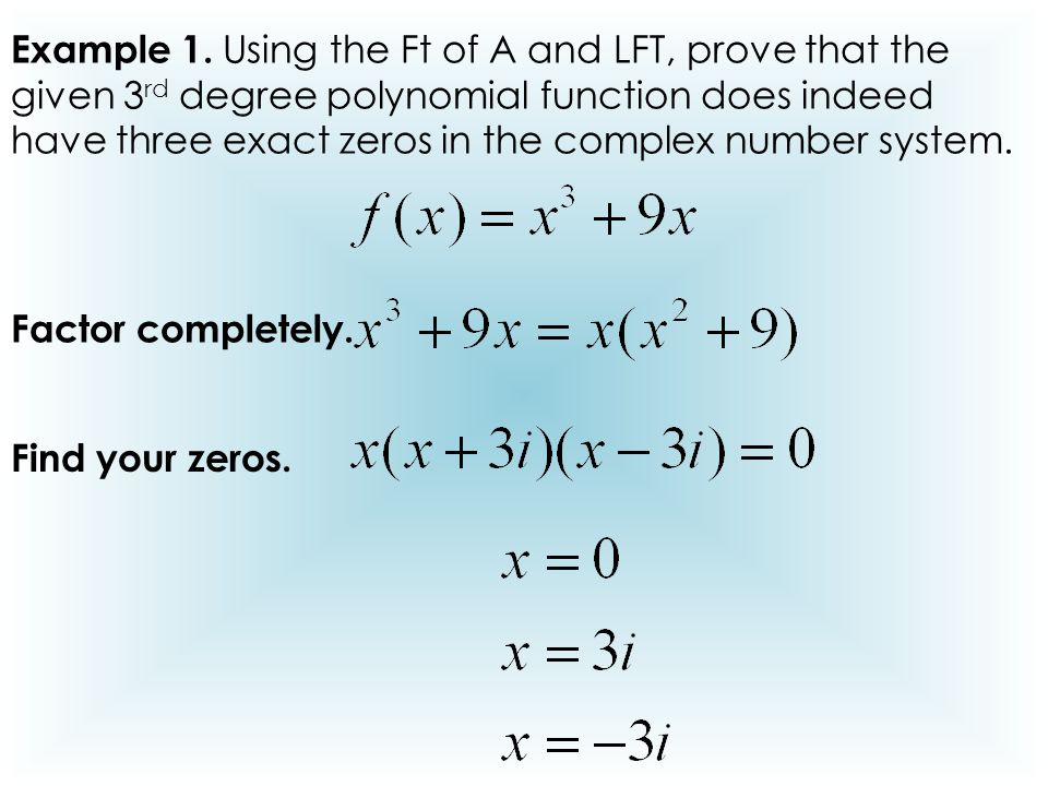 using zeros to write a polynomial function