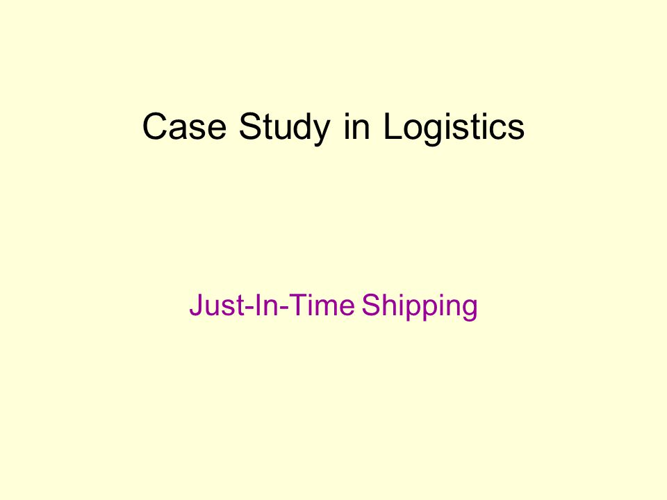 logistics case study india Purpose - this paper aims to map and understand the reverse logistics systems in the apparel aftermarket in india it clarifies the processes involved from the procurement of used clothing until its resale in the aftermarket.