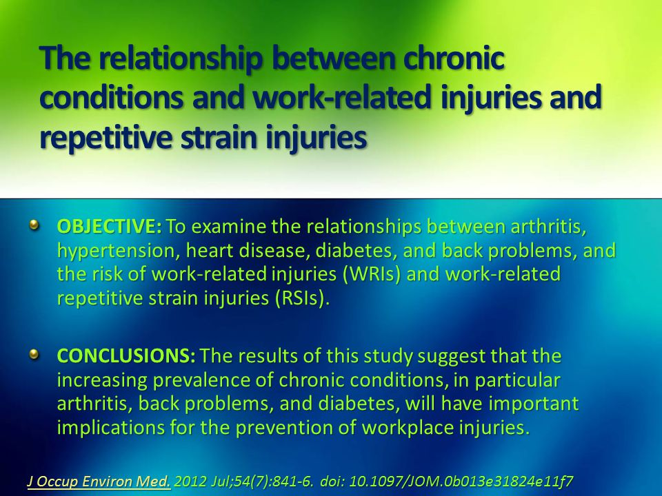 repetitive stress injuries causes prevention and Rsis are also known as cumulative trauma disorders, repetitive stress injuries, repetitive it has been reported that approximately 60% of all occupational injuries can be attributed to repetitive strain injury 3 main causes hips and thighs, improve sleep, injury prevention, knee.