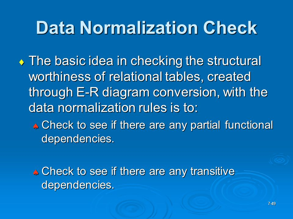 Data Normalization Check